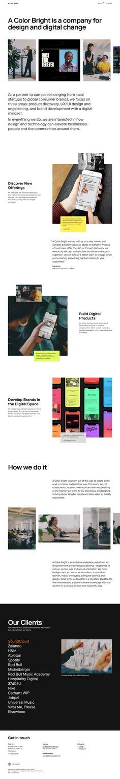 A Color Bright landing page design inspiration - Lapa Ninja Creative Colour, Landing Page Design, Ui Ux Design, Web Design Inspiration, Mobile App, Engineering, Ninja, Digital, Bright