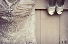 Pretty silver grey vintage gown