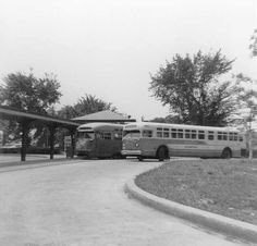 Barney Circle (17th and Pennsylvania Avenue SE). When the route 30 car line was abandoned in 1960, a paved bus right-of-way was added. The bus is on route 30 (Friendship Heights).