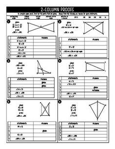 Geometry Triangle Proofs SAS, SSS, HL, ASA, AAS, CPCTC (4 Sample ...