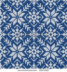Snowflake. Seamless Knitting Pattern