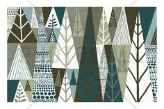 Geometric Forest - Canvas Print & Canvas Art - Photowall