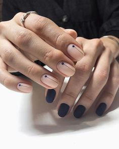 What manicure for what kind of nails? - My Nails Gradient Nails, Holographic Nails, Acrylic Nails, Coffin Nails, Minimalist Nails, Solid Color Nails, Nail Colors, Ongles Kylie Jenner, Uñas Fashion