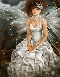 """Snowbelle fairy (^.^) Thanks, Pinterest Pinners, for stopping by, viewing, re-pinning,  following my boards.  Have a beautiful day! ^..^ and """"Feel free to share on Pinterest ^..^  #fairytales4kids #elfs #Fantasy"""