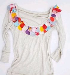 Petal Tees | AllFreeSewing.com. Cute and it's a beginner level project!