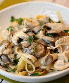 CHICKEN MUSHROOM FETTUCCINE RECIPE – Home   delicious recipes to cook with family and friends.