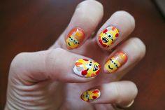 Jersey Girl, Texan Heart: Thanksgiving Minions Nail Art