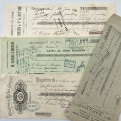 Excited to share this item from my #etsy shop: 4 Vintage French Cheques, 4 Original Cheques, Vintage French Legal Documents, Vintage French Ephemera, French Papers, Antique Books, Vintage Books, Vintage Paper, Vintage Ephemera, Vintage Postcards, French Vintage, My Etsy Shop, The Originals, Vintage Travel Postcards