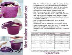 Tupperware Rice Cooker - full and mini s on Mercari Tupperware Pressure Cooker Recipes, Tupperware Recipes, Rice Cooker Recipes, Microwave Rice Cooker, Microwave Recipes, Rice Maker, Pasta Maker, Cooking Stores, Cooking Time