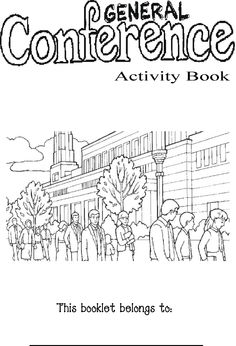General Conference Coloring for kids color the word that you