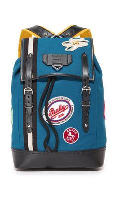 Bally Men's Alpine Backpack, Petrol, One Size