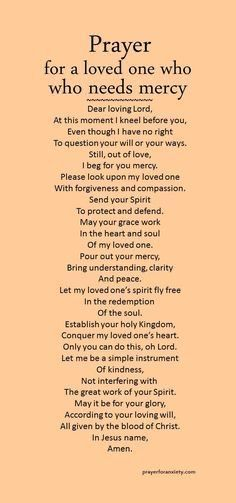 Prayer For Mercy, Faith Prayer, God Prayer, Power Of Prayer, Prayer Scriptures, Bible Prayers, Prayers For Healing, Prayer Quotes, Bible Verses