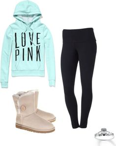 """Uggs & Yoga Leggings"" by heyimsammi ❤ liked on Polyvore"