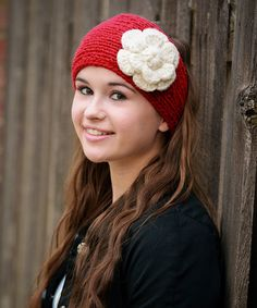 Red Rosa Wool Head Warmer #zulily #zulilyfinds