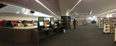 Customer service desk and RFID kiosks - Doncaster Library, Victoria