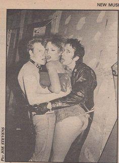Cheetah Chrome, Sable Starr, and Stiv Bators, CBGB's, 1977
