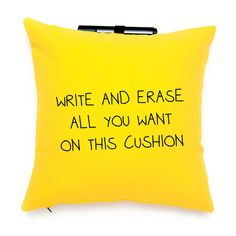 Post-It Note Me Throw Pillow ~ So Cool ..love this idea for leaving romantic notes for the hubby!