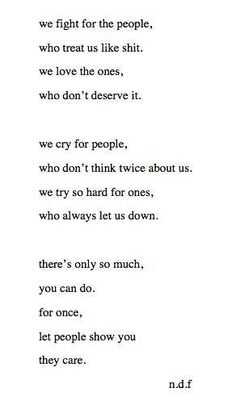 Ain't that the truth.. See the people who are there for you not the one who isn't