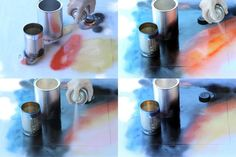 Do your very own Spray Paint Art in 5 Minutes More Homemade Projects Galaxy Spray Paint, Spray Paint Wall, Spray Paint Projects, Art Projects, Space Painting, Galaxy Painting, Acrylic Art, Graffiti Art, Art Techniques