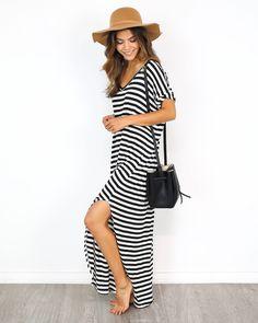 Weekender Striped Maxi Dress