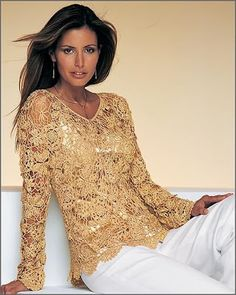 Uncinetto d'oro: Bellissima maglietta d'oro!!!
