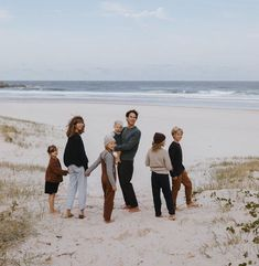 All seven of us in one photo! Taken by our good friend for a feature on the journal. Cute Family, Fall Family, Family Goals, Beautiful Family, One Photo, First Photo, Beach Family Photos, Family At The Beach, Ohana Means Family