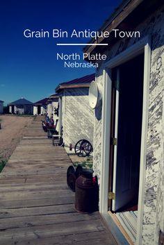 Grain Bin Antique Town in North Platte, NE