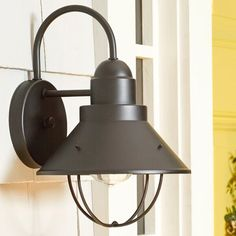 Great for Castro Outdoor Barn Light by Longshore Tides Lighting Home Decor Furniture from top store Outdoor Barn Lighting, Outdoor Hanging Lanterns, Outdoor Ceiling Fans, Outdoor Sconces, Outdoor Wall Lantern, Exterior Lighting, Outdoor Walls, Rustic Outdoor, Reno