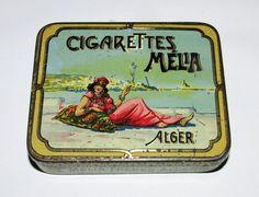 Alte sehr seltene Litho Zigarettendose MELIA Cigarettes Zigaretten Blechdose | eBay