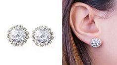 Rhodium Plated Flower Shape Crystal Stud Earrings Butterfly Queen's Jewelry  #QueensJewelry #Stud  #crystal #Rhodium #Gold #Plated #Jewelry #Trends #Women #Fashion #Classic #18k #Beauty #PostBack #Butterfly #Comfort #Charm #Trendy #earrings #classic #small #shine #womenStud