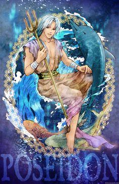 MYth Character: Poseidon by zeldacw.deviantart.com on @DeviantArt