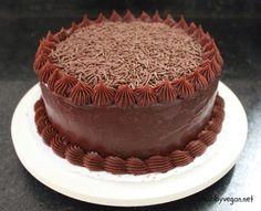 Chocolate cake dec idea