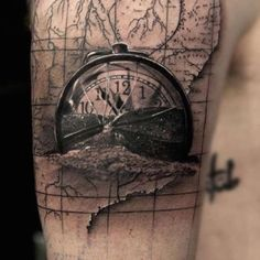 A 'torn' edge tattoo that is excellent.