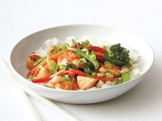 Kung Pao Chicken from FoodNetwork.com  1 1/4 pounds skinless, boneless chicken breasts, cut into small chunks