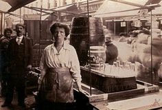 Annie Moody of Moody's of Rathbone St Market, Canning Town c.1910