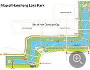 Map Of Hancheng Lake Park Xian China Tourist Map Beijing Subway Map City Layout