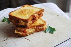 Remix your Grilled Cheese by adding those leftover pizza ingredients in your fridge.