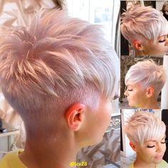 Funky Short Hair, Super Short Hair, Short Hair Cuts For Women, Undercut Hairstyles, Pixie Hairstyles, Undercut Pixie, Trendy Hairstyles, Cheveux Courts Funky, Faded Beard Styles