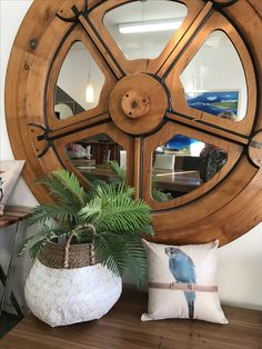 Stunning wheel is not for sale but a variety of cushions are.
