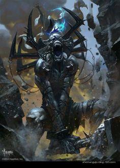Beautiful Science Fiction, Fantasy and Horror art from all over the world. Dark Fantasy Art, Fantasy Concept Art, Dark Art, Dark Creatures, Fantasy Creatures, Mythical Creatures, Fantasy Monster, Monster Art, Illustrations