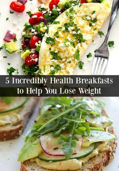 If you're trying to lose weight, you need to try all five of these Healthy Breakfasts to jump start your weight loss routine. Start the days off right by eating a healthy breakfast with the right proteins and carbs.