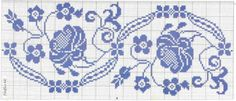 blue bordures pinned onto my crochet board then saw how beautiful it would be to cross stitch or embroider this onto pillow cases and sheets!