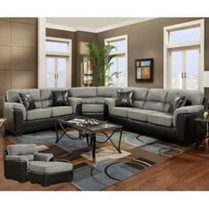 Chelsea Home Furniture -Lancaster 3 PC Sectional Laredo Graphite -Sears - $1839.99