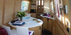 Modern design in a narrowboat