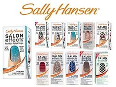 Lot of 10 Sally Hansen Salon Effects Real Nail Polish Strips - 10 Different Colors - No Repeats (No French)...