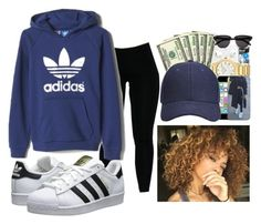"""""""Running Errands ."""" by xoxotyra ❤ liked on Polyvore featuring adidas, adidas Originals, women's clothing, women, female, woman, misses and juniors"""