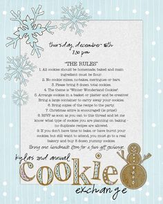 Cookie Exchange Invite