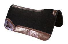 Best Ever Pads OG Wool - Tobacco Croc - Longhorn Western Tack, Horse Tack, Saddle Pads, Custom, Rodeo