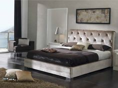 This bed wil look perfect in any spacious room. Its tufted back reminds mid-centuries, while geometrical-shaped legs look very modern. It has storage under platform, and soften sideboards. King Storage Bed, Storage Beds, Large Beds, Furniture Deals, High Quality Furniture, Bedding Collections, King Size, Mattress, Mousse Polyuréthane