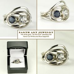 tie the knot! lOve it, seriously one of the cutest things EvEr!............................ Handmade Gemstone Ring by Earth Art Gem & Jewelry | CustomMade.com